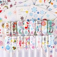 30 adet noel tırnak Sticker setleri karışık kar tanesi noel baba geyik desen Nail Art su transferi kaymak folyo çıkartması CHSTZ77 808