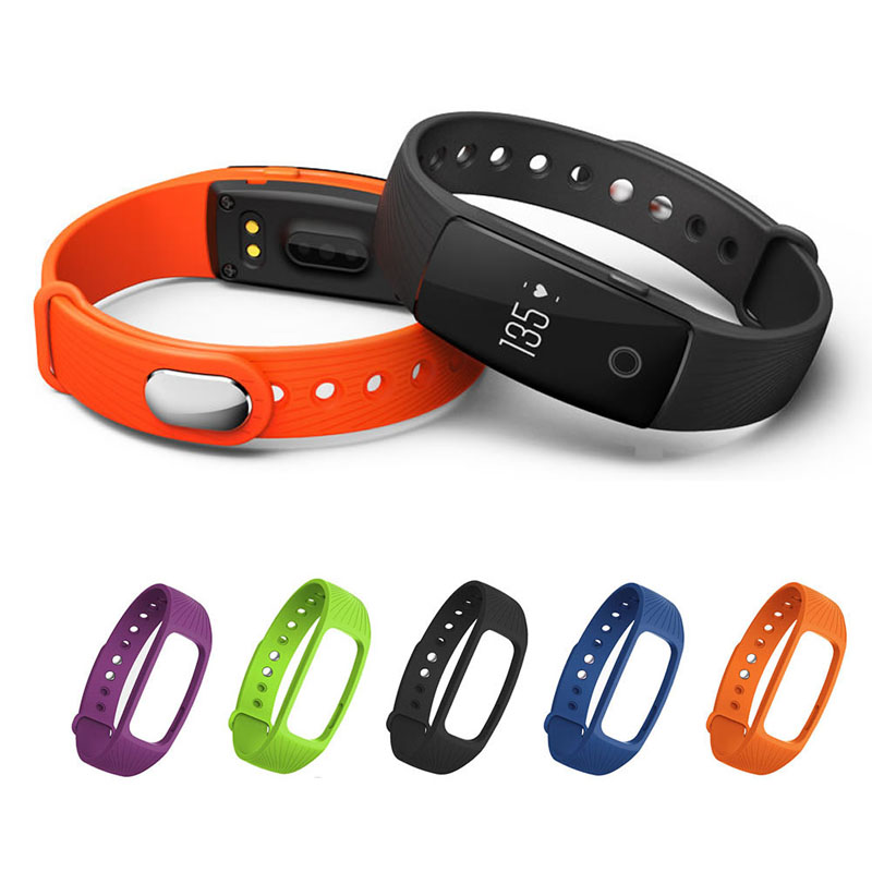 OOTDTY Silicone Band Fitness Tracker Heart Rate Monitor Strap Wristband For IPRO ID107 Smart Watch