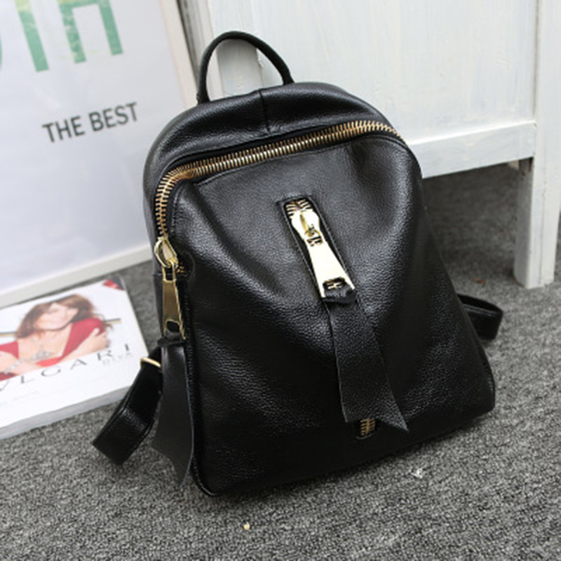 2017 New Female Bag Shoulder Bag Leather Female Korean Casual Travel Backpack Student Bag First Layer Cowhide Korean Backpack rdgguh backpack bag new of female backpack autumn and winter new students fashion casual korean backpack