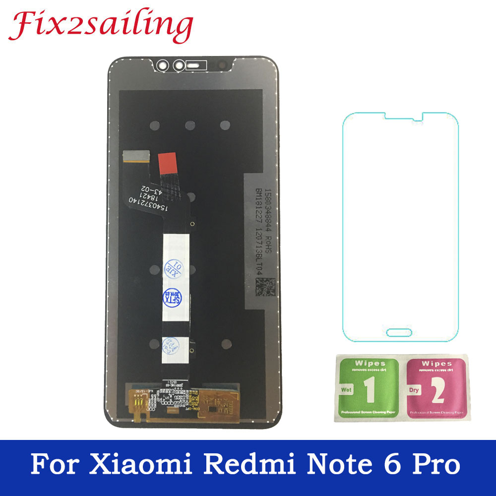 100% Tested Working LCD for Xiaomi Redmi Note 6 Pro LCD Display Touch Screen Digitizer LCD For Redmi Note6 Pro Display