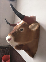 large 57x37x50cm artificial cattle head model polyethylene&furs handicraft, wall pandent home decoration gift A0699
