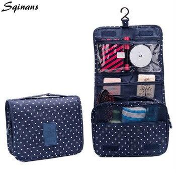 Sqinans bolsa de almacenamiento de viaje portátil organizador de viaje bolsa de aseo de viaje organizador de maquillaje bolsa de cosméticos de lavado impermeable