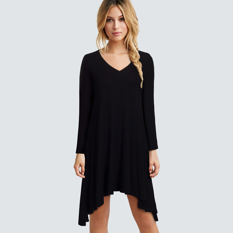 Black peplum dress long sleeve