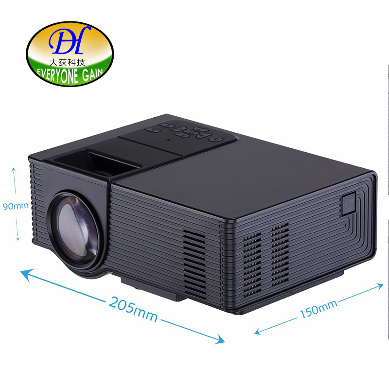 Everyone Gain mini298+ Projector 1500 Lumens Support 1920x1080 Analog TV LED Projector MINI Projector for Home Cinema Digital TV portable mini projector home cinema digital smart led projectors support 1080p movie pc video game can use mobile power supply
