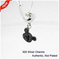 Fits European Bracelet Charms Silver 925 Jewelry Mickey Sparkling Ear Hat Charm Beads for Jewelry Making Women DIY Bracelet