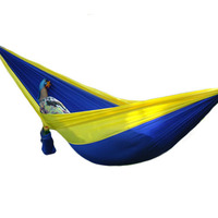 NOCM Hot Sale Nylon Fabric Hammock Travel Sleeping Camping For Double Two Person