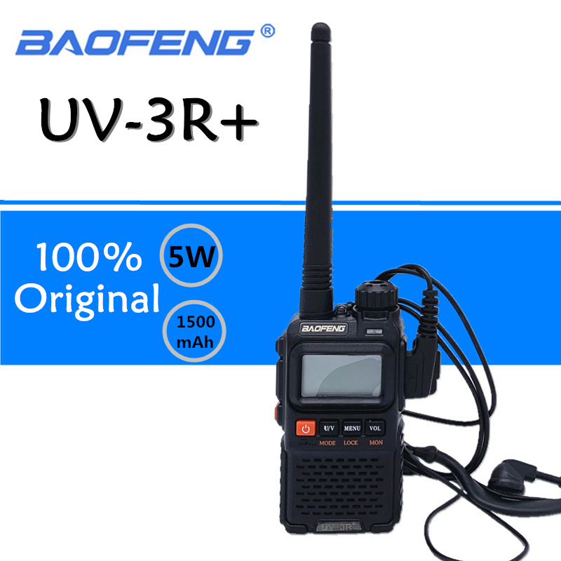 Baofeng UV-3R Plus Walkie Talkie UHF VHF Mini UV 3R+ Portable CB Radio VOX Flashlight FM Transceiver Ham Radio Amador UV3R