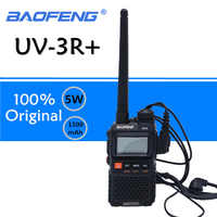 Baofeng UV-3R Plus Walkie Talkie UHF VHF Mini UV 3R + Tragbare CB Radio VOX Taschenlampe FM Transceiver Ham Radio amador UV3R