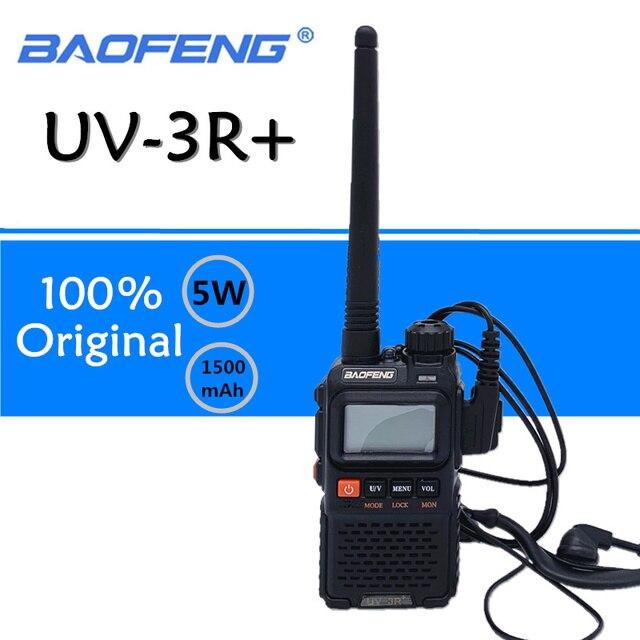 Baofeng UV 3R בתוספת ווקי טוקי UHF VHF מיני UV 3R + נייד CB רדיו VOX פנס FM משדר רדיו חם amador UV3R