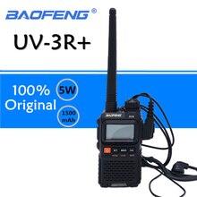 Baofeng UV 3R plus walkie talkie uhf vhf mini uv 3r + portátil rádio cb vox lanterna fm transceptor rádio amador uv3r