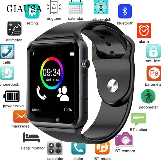 Smartwatch A1 for Android phones Support SIM TF card Call smart watch x6 Receive information Photography Pedometer Economic gift image
