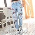 Новые моды для женщин случайные Свободные Женщины Повседневная Карандаш Брюки плюс размер мешковатые старинные ripped boyfriend hole denim Длинные джинсы
