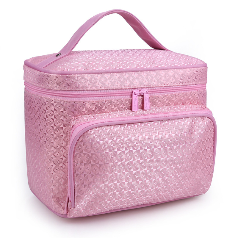 wulekue Women Cosmetic Bag Striped Waterproof