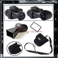 3 3 Inch LCD ViewFinder Loupes Magnifier Viewer Extender Hood 2 8X For Canon 550D T2i