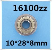 16100ZZ 16100 ball bearing 10x28x8mm bike wheels bottom bracket repair bearing motor bearing ABEC3