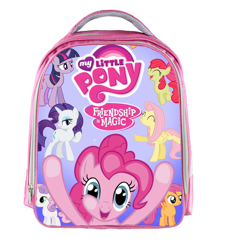 Anime My Little Pony Children School Bags For Girls Cute Cartoon ...
