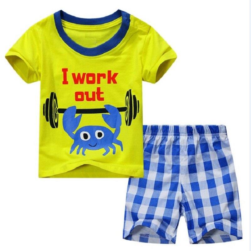 2021 Baby Boy Clothes Suits Summer Children T-Shirts Shorts Pant 2-Piece Clothing Set Beach Kids Outfits Sport Suit 2 3 4 5 6 7Y 5