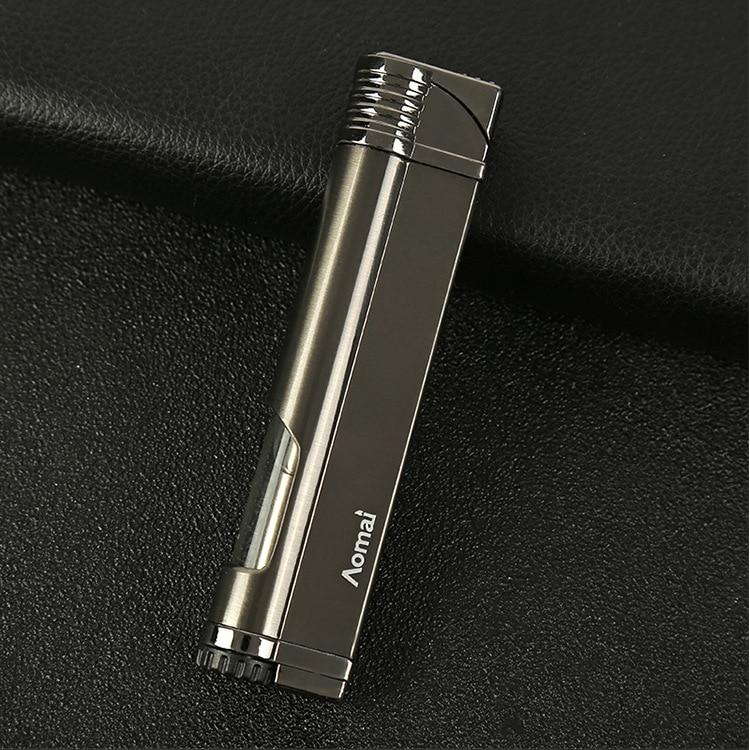 Image 5 - New Strip Torch Turbo Lighter Cigar Pipe Jet Lighter Windproof Butane Cigarette Cigar Lighter 1300 C No GAS-in Lighters from Home & Garden