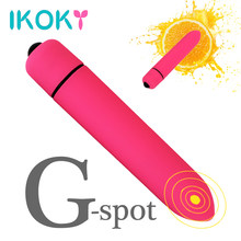IKOKY Powerful 10 Speed Vibrating Mini Bullet Shape Vibrator Waterproof G-spot Massager Sex Toys for Women Female Adult Products(China)