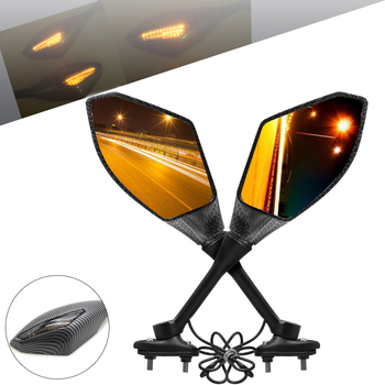 Motorcycle LED Turn Signals Rearview Mirrors accessories For Honda X-ADV varadero xl1000 hornet900 CBR600 Scooter cafe racer