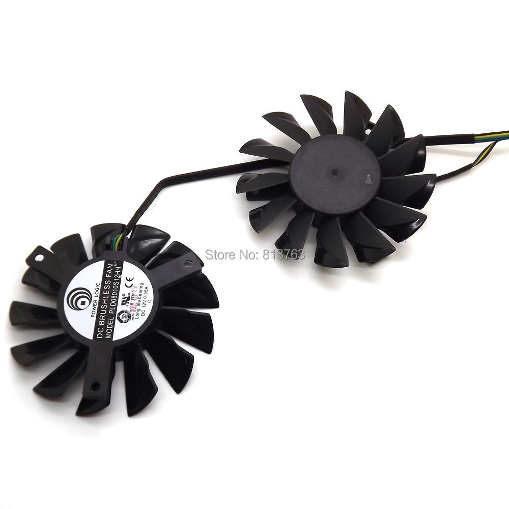 2 unids / lote PLD08010S12HH 75mm DC 12V 0.35A 4Pin Ventiladores Dual - Componentes informáticos - foto 4