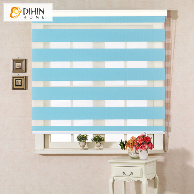 Dihin Home Free Shipping Polyester Translucent Double Layer Blackout