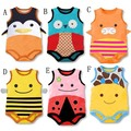 Fashion Baby Romper Cotton Sleeveless Cute Cartoon Animal Pattern One Piece Body Suits Summer Baby Romper 0-2T CD891