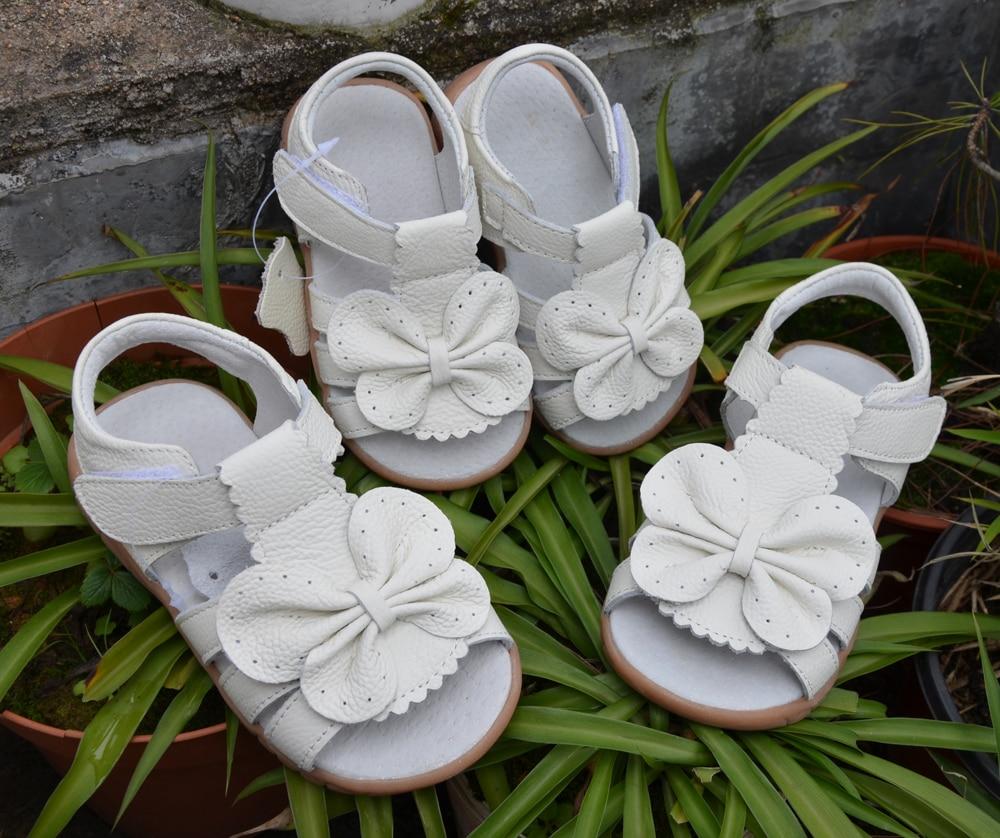 2016 nuevas sandalias de las muchachas del cuero genuino zapatos - Zapatos de niños - foto 4