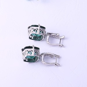 Image 3 - GEMS BALLET Russian Nano Emerald Gemstone Ring Earrings Jewelry Set For Women 925 Sterling Silver Engagement Wedding Jewelry