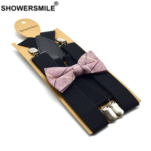 SHOWERSMILE Mens Suspenders Braces Wedding Black for Women Men X Back 4clips Adult Dress Suspensorio 120cm*3.5cm