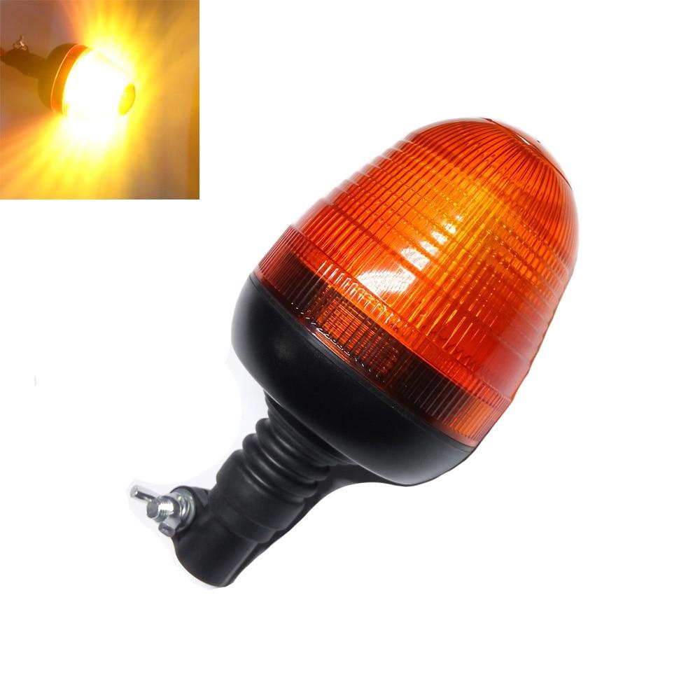 LED Light Flexible Pipe Mount Profile Amber Beacon Emergency Hazard Warning Safe Yellow Flash Strobe Lights Plus Coaster 12V Car