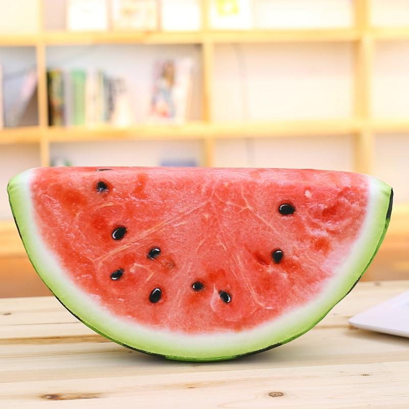 Creative 3D Watermelon Kiwi Oranges Grapefruit Print Fruit Pillow Car Office Air Conditioning Pillow Home Decoration cultural turn in sport psychology