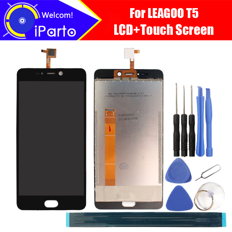 5.5inch LEAGOO T5 LCD Display with Touch Screen Digitizer 100% Original LCD Screen Glass Panel Assembly For T5 Phone+tools