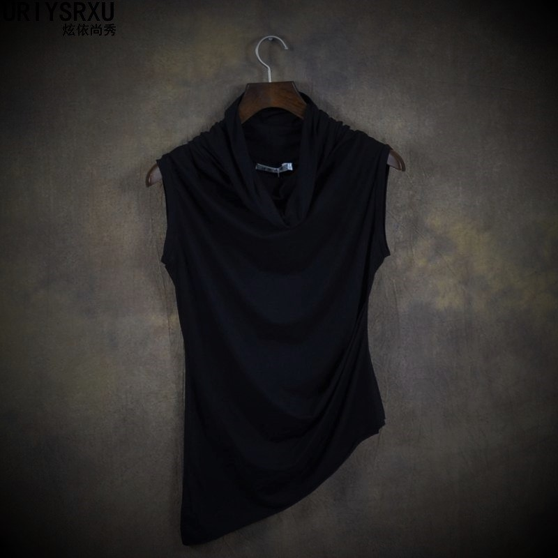 In Summer of Cultivate Morality Sleeveless Vest High Collar s