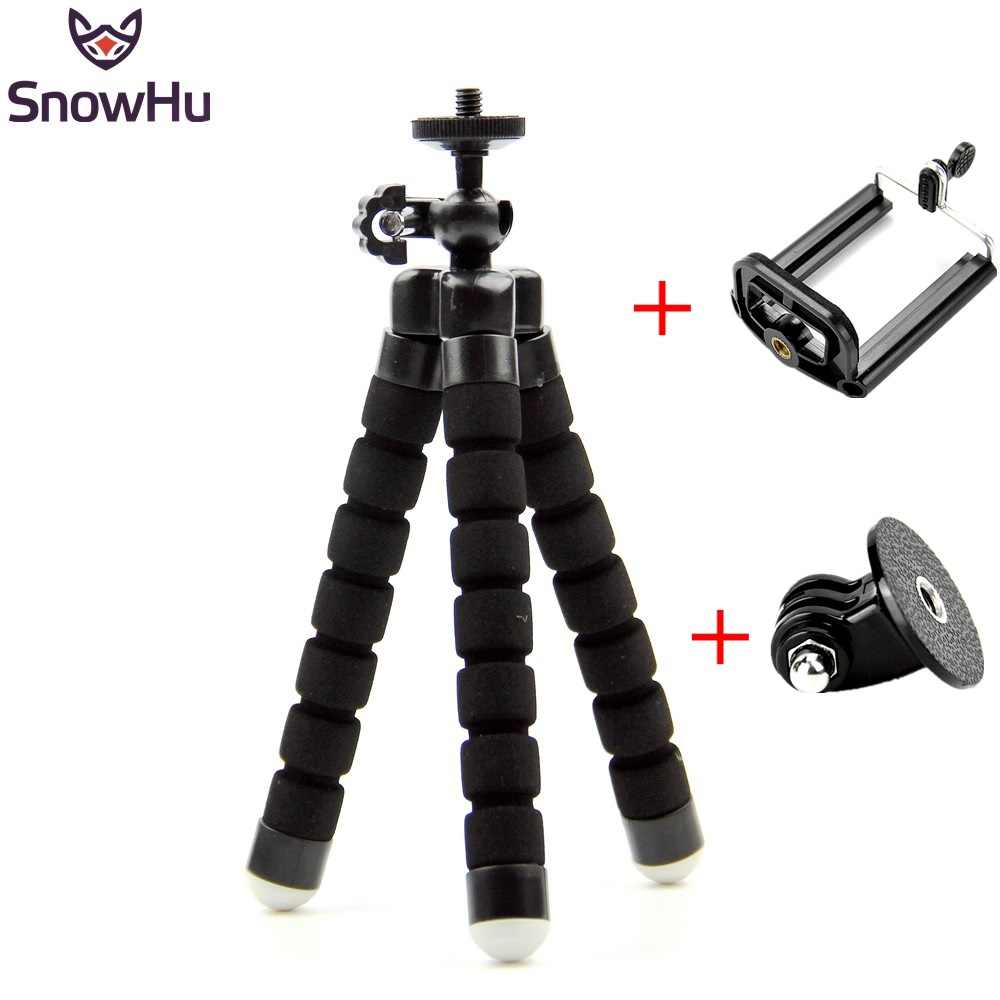 SnowHu For GoPro Flexible Mini OctopusTripod With Screw Mount Adapter For Go Pro Hero 8  7 6 5 4 For Xiaomi yi SJCAM Camera LD06