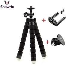 Snowhu移動プロ柔軟なミニoctopustripodネジでマウントアダプタプロヒーロー9 8 7 6 5のためxiaomi李sjcamカメラLD06