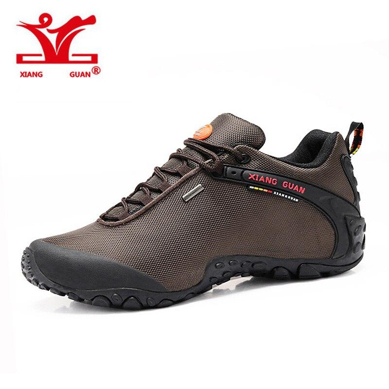 2016 XIANGGUAN Man Climbing Walking Sneskers Women Outdoor Hiking Shoes fishing Athletic Trekking Boots 2016 man women s brand hiking shoes climbing outdoor waterproof river trekking shoes