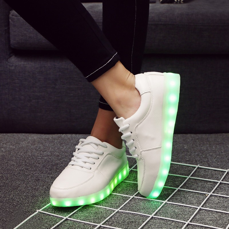 Eur27-40 // USB illuminated krasovki luminous sneakers glowing kids shoes children with led light up sneakers for girls&boys