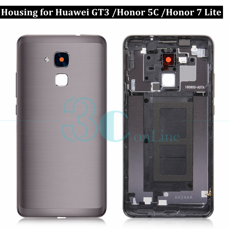rivenditore di vendita 4d63e 49519 For Huawei Honor 5c Battery Back Cover Metal Housing Door for Huawei GT3 /  Honor 7 Lite Rear Case Replacement Repair Spare Parts