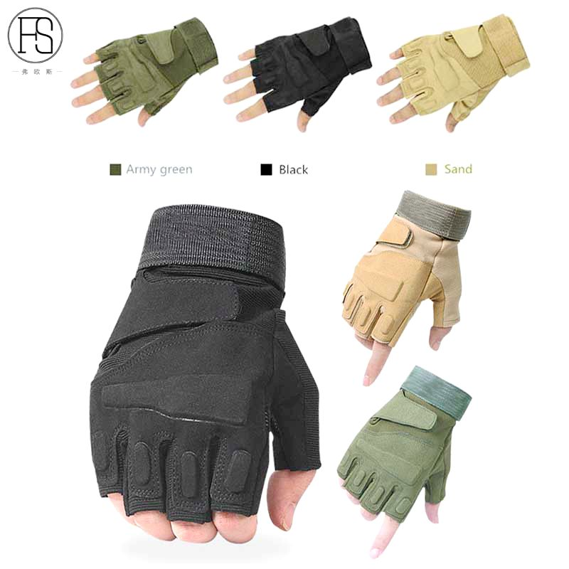 Hot!Outdoor Military Tactical Gloves Shooting Airsoft Sport Half Finger Guantes Ciclismo Combat Fitness Gloves Climbing Gloves цена 2017