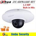 New Dahua Wireless IP Camera IPC-HDPW4100F-WPT 1.3 MP HD Wi-Fi IR Mini PT Dome Camera Built-in Mic English version Support Onvif