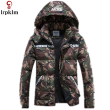 2017 Jackket Men Winter Jacket Big Size M-5XL Camouflage  Cotton With Hooded Parkas Casaco Masculino  MK1002