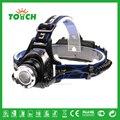 Fábrica CREE XML T6 lanterna de cabeça da lâmpada Novo Design Fabricante Eco Farol SOS Zoom iluminação frontal