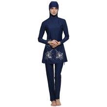 Women Burkinis Musulman Swimsuit Female Bathing Wear Muslim Swimwear Modest Islamic Full Cover Floral Swim Suits