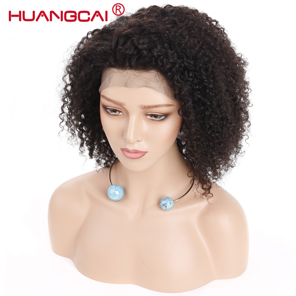 360 Lace Frontal Wigs Mongolian Afro Kinky Curly Wig Lace Front Human Hair Wigs For Women