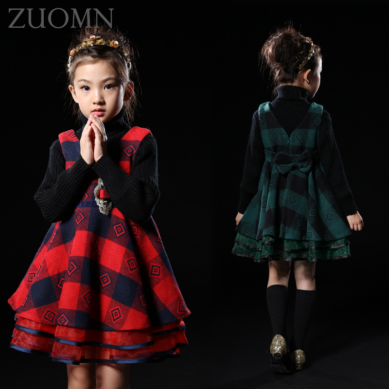 Girl Dress Christmas Wedding Party Dresses Knitted Winter Kids Girls Clothes Children CLothing Baby Girls Princess Dress GH343