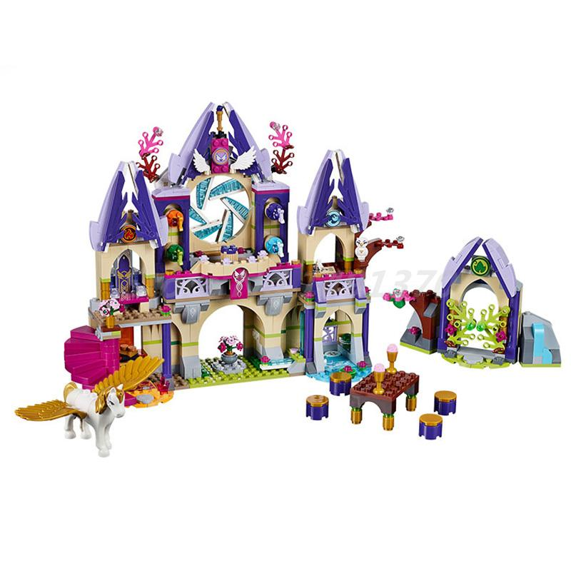 BELA 10415 Building Block Elves Skyra's Mysterious Sky Castle 41078 Model Bricks Educational Toys For Children Christmas Gifts new lepin 16008 cinderella princess castle city model building block kid educational toys for children gift compatible 71040