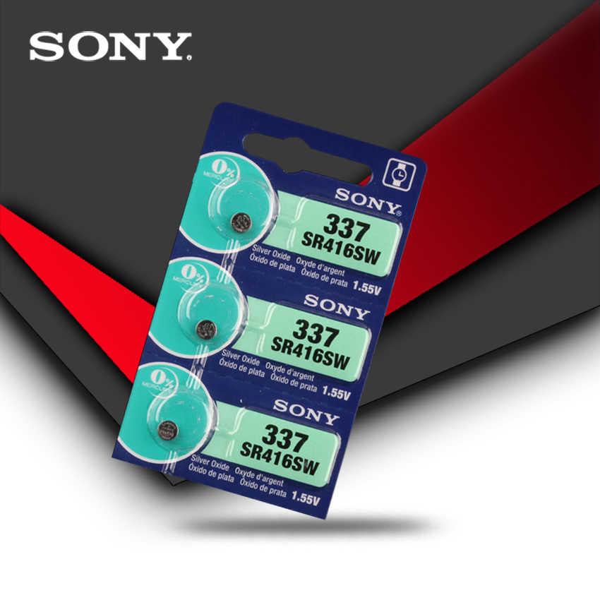 1 piezas Sony 100% Original 337 SR416SW 1,55 V óxido de plata reloj de SR416SW 337 botón moneda celular hecho en japón