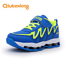 QIUTEXIONG Kids Sport Shoes Boys Casual Shoes For Girls Running Children Shoes Boys Sneakers Hook Loop