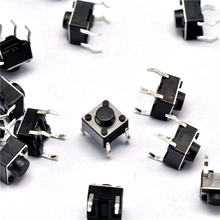 100pcs 6x6x5mm Light touch switch DIP4 ON/OFF 6*6*5 Touch button Touch micro switch 6*6*5mm keys button DIP 4pin free shipping